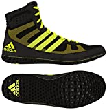 Adidas Mat Wizard David Taylor Edition Wrestling Shoes Black/Solar Yellow Size 10