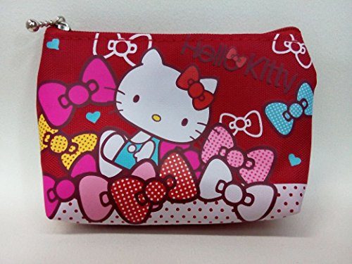 CJB Sanrio Japan Hello Kitty Mini Coin Pocket Red Ribbon (US Seller)