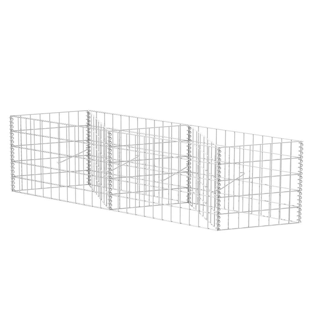 auch resistent gegen Zaun Garten Barriere robust und zuverl/ässig FZYHFA Gabbione aus Netz//Blumenk/übel Orto Erh/öht Stahl 150 x 30 x 50 cm Design sch/ön