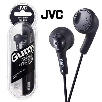 76fd2a85599 JVC Gumy Bass Boost Stereo Headphones Olive Black: Amazon.co.uk: Electronics