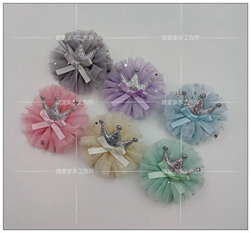 Generic 49 hand-full of South Korean imports of baby girls, baby head flower headdress hair band - crown tiara bow hairpin