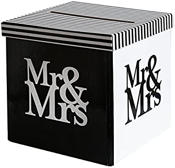 My Wedding Shop Dinero de Caja/Carta de Caja/Caja de Boda Mr & Mrs en