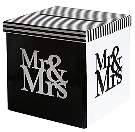 My Wedding Shop Dinero de Caja/Carta de Caja/Caja de Boda Mr & Mrs en