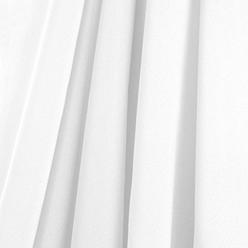AK-Trading 115″ x 120″ White Chiffon Drapes Panels for Wedding Events & Decor- Backdrop Draping Curtains