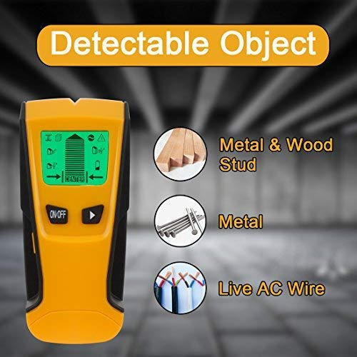 Stud Finder Detector de Stud, Escáner de Pared Genround con Sensor de Madera Stud, Detector de Alambre de Pared, Buscador de Stud de Metal y Pantalla LCD y ...