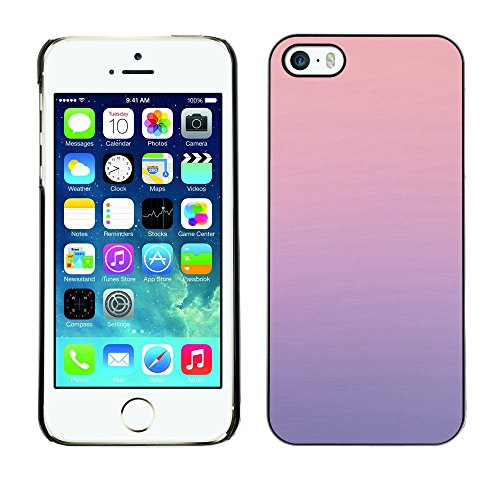 Eason Shop / Hard Slim Snap-On Case Cover Shell - Pink Blue Purple Harmony Gradation Blur Parallax - For Apple iPhone 5 / 5S