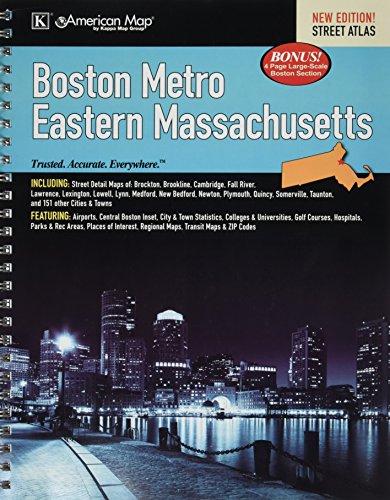 Universal Map 14172 Boston, Metro & Eastern Massachusetts Street - Map Boston Airport