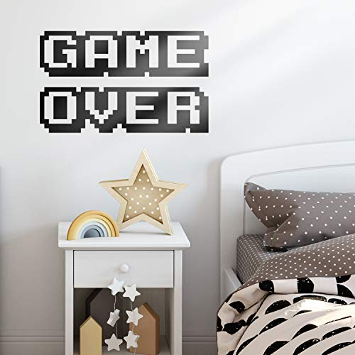Vinyl Wall Art Decal - Game Over - 12