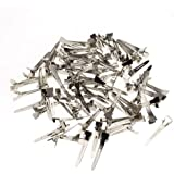Generic 60 Pcs Single Prong Sectioning Clip Alligator Pinch Clips For Hair