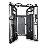 Rep Multi-Grip Functional Trainer, Dual Adjustable Pulley Machine with 220lb Weight Stacks and 20 Cable Positions