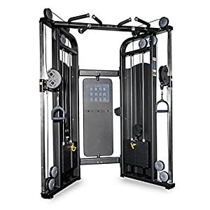 Rep Multi Grip Functional Trainer Cable Machine, Dual Adjustable Pulley Machine with 220 lb Weight Stacks and 20 Adjustments