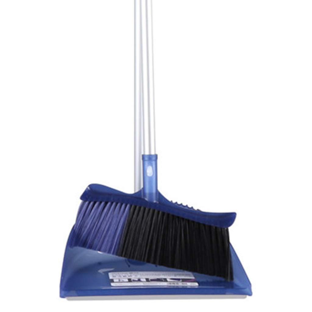 Lsxlsd Long Handle Broom And Dustpan Dustpan And Brush Floor Use Upright Stand Up Dustpan Broom Set (Color : Blue) by Lsxlsd