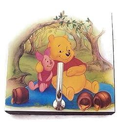 Agility Bathroom Wall Hanger Hat Bag Key Adhesive Wood Hook Vintage Winnie the Pooh & Piglet's Photo