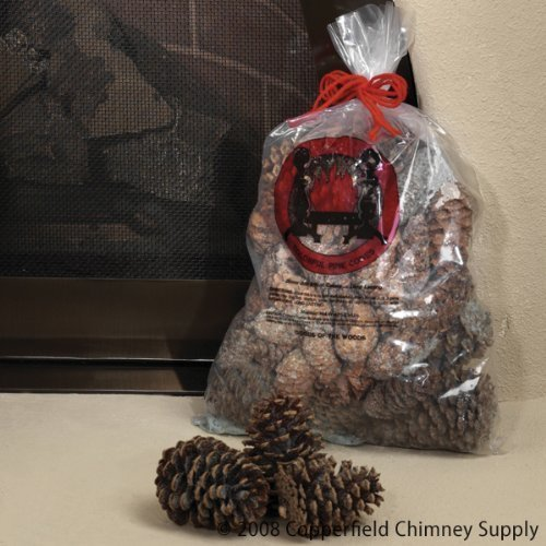 Chimney 47148 Magical Color Pine Cones 2.5 lb. Bag Burn Blue and Green