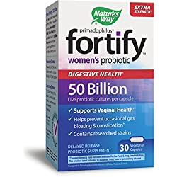Nature's Way Primadophilus Fortify Women's Probiotic Digestive Health Extra Strength, 30 Count
