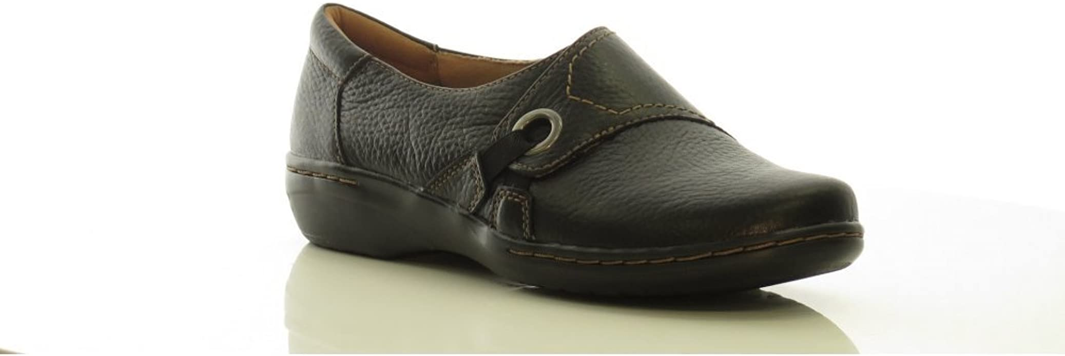 Ladies Clarks Evianna Boa Leather Casual Trouser Shoes D Fitting