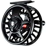 Fishing On The Fly | Fly Fishing Reel | Premium Die Cast Aluminum | Black (Black, 5-6 Weight)