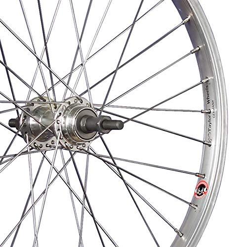 Silber Taylor-Wheels 20 Zoll Hinterrad B/üchel Alufelge//Schraubkranznabe 5//8-fach