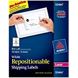 "Avery Repositionable Shipping Labels for Laser Printers, 3.33 x 4"", Pack of 150 (55464)"