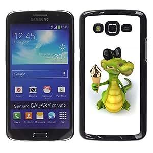 """For Samsung Galaxy Grand 2 II , S-type Helado cocodrilo amistoso"""" - Arte & diseño plástico duro Fundas Cover Cubre Hard Case Cover"""
