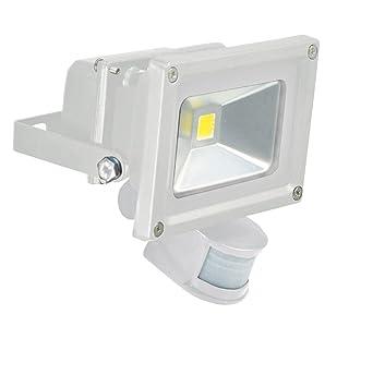 Eagle 10 w led flood light with pir sensor white amazon eagle 10 w led flood light with pir sensor white aloadofball Images