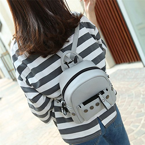 Women Rivet Backpack Girl Black Bag Backpack School Leather Women Espeedy Fashion PU colors 3 Mini For xqwEa5aU8F