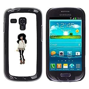 Ihec Tech Noir Outfit Hair Fashion Mini-jupe Cartoon / Coque Etui Coque étui de portefeuille protection Coque Case Cas / for Samsung Galaxy S3 MINI 8190