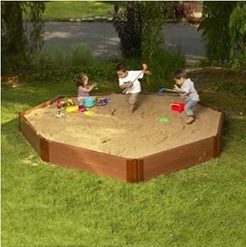 Amazon.com : Frame It All One Inch Series Composite Octagon Sandbox ...