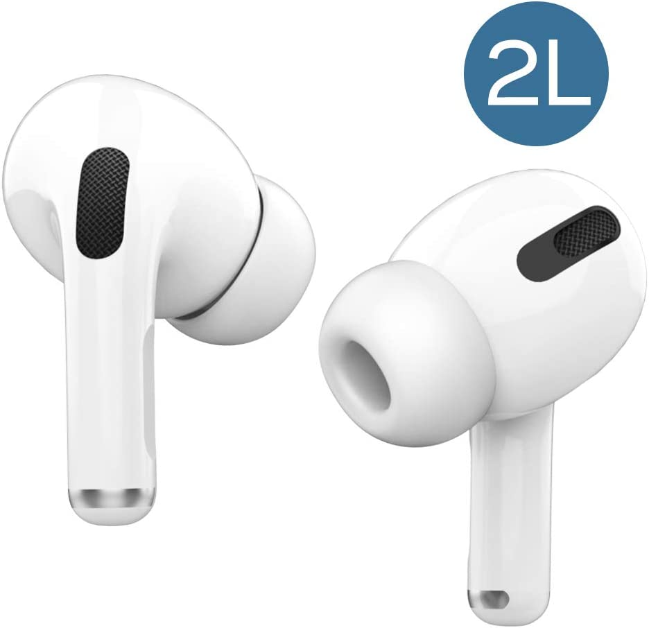 Replacement Silicone Eartips Earbuds for AirPods Pro Headphones Earphone Tips Compatible with AirPods Pro 2019 (2 Pairs) Medium-2pairs
