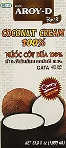 Aroy-D Pure Coconut Cream, 33.8 Fluid Ounce (Pack of 3)