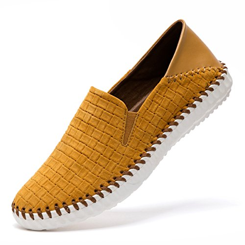 Flats Slip Outdoor Leather Leisure OSS Brown Men's 8001 Penny Office on Casual Comfort Loafers Osslue Shoes Genuine Boat qw8Y6nfF