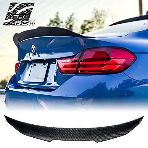 AeroBon Real Carbon Fiber Rear Trunk Spoiler for 13-19 BMW F32 4-Series Coupe (High Kick Style) ()