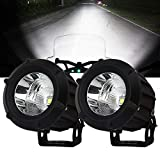 Samlight LED Driving Light,2Pcs Cree 25W 6000K Spot Beam Round LED Work Light Pod lights Work Lamp for Off Road 4x4 Pickup Truck Motorcycle Jeep SUV Truck Wrangler Boat Tractor