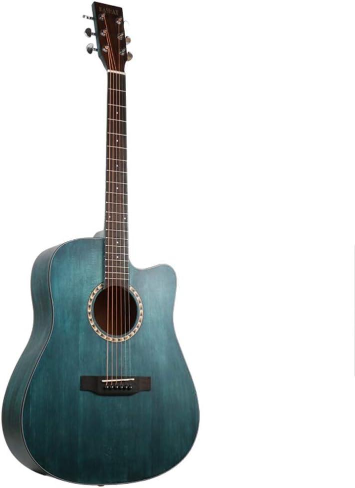 Loivrn - Ukelele minimalista para principiantes y mujeres de 41 pulgadas, para estudiantes y adultos, con bolsa de regalo azul con correa de tela de repuesto para guitarra clásica 4/4