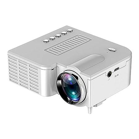dianhai306 Proyector, Mini proyector Native 1080 1920p, Proyector de Video portátil Cine en casa Cine Oficina Soporte para teléfonos Inteligentes ...