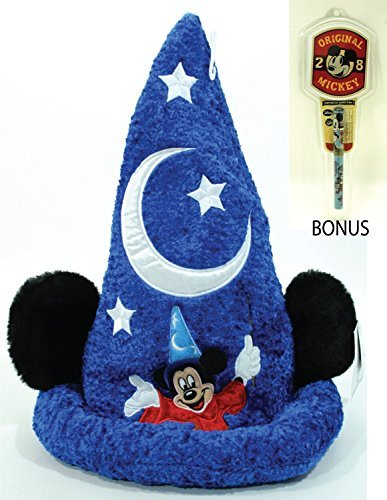Disney Parks Mickey Sorcerer Hat - Disney Parks Exclusive & Limited Availability - BONUS Mickey Notepad & Pen Included by Disney ()