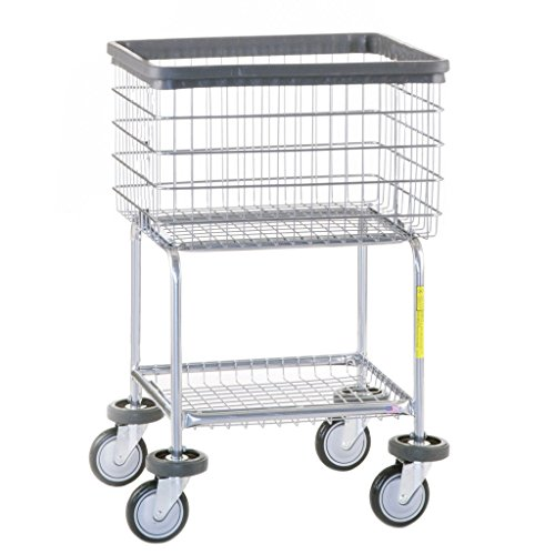 R&B Wire 300G Deluxe Elevated Wire Frame Metal Laundry Cart from R&B Wire Products