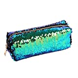 Best Case Girl With Sexy - YiZYiF Magic Mermaid Sequin Cosmetic Pouch Girl's Glitter Review