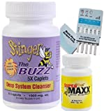 1 Bottle (5 Caplets) Stinger The Buzz 5x Strength 1 Hour Total Detox Flush w/ 1 free 6 Panel drug tests (mAMP/THC/OXY/COC/OPI/BZO)