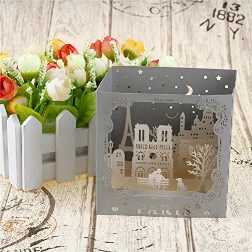 Cards & Invitations - Famous City Night View Paris Postcards 3d Pop Up Handmade Vintage Greeting Love Cards Scratch Paper - Birthday Up Rainbow Up Amigurumi 3d Tower Paint Vintage Child Vinta -
