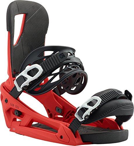 Burton Cartel EST Snowboard Bindings Red Sz M (8-11)