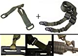 Ultimate Arms Gear IDF Israeli Defense Forces Pair of Slip On OD Olive Drab Green Loop Adapter Attachment with D-Ring + Sling, OD Olive Drab Green For Mossberg 500 590 835 Maverick 88