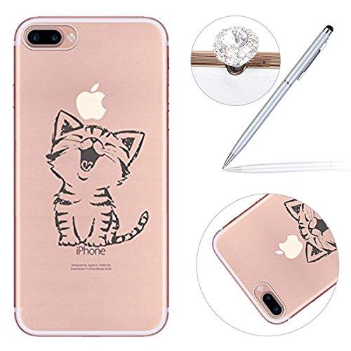 8220b8aaba8 low-cost iPhone 6 Plus Case, Carcasa blanda para iPhone 7 Plus de 5,5  pulgadas, Felfy Colorido Panting diseño transparente ...