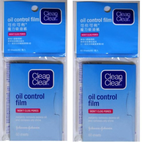 Clean & Clear Oil Control Film Facial Blotting Paper, 50-count Sheets (Pack of 4)