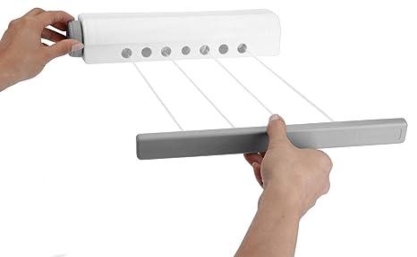 Tendedero pared 14 m – Extensible – Secadora de ropa de 4 Lino
