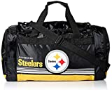 FOCO Pittsburgh Steelers Medium Striped Core Duffle Bag