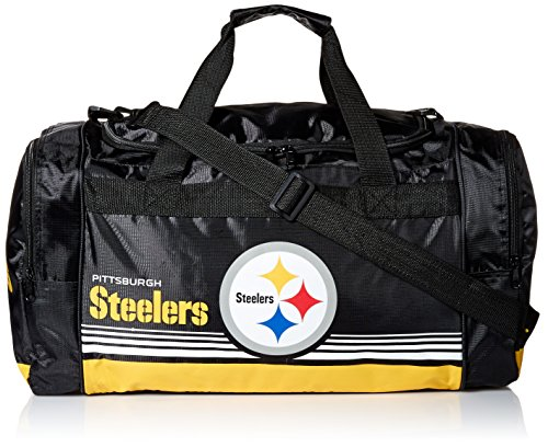 Pittsburgh Gnome Steelers (FOCO Pittsburgh Steelers Medium Striped Core Duffle Bag)