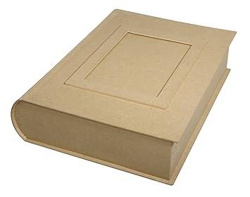 Jumbo Caja en forma de libro de papel maché para decorar 34 x 27 x 8 cm | de papel maché: Amazon.es: Hogar