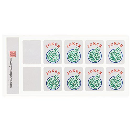 Yellow Mountain Imports American Mah Jongg (Mahjong, Mah Jong, Mahjongg, Mah-Jongg, Majiang) Tile Decals (Stickers), Set of 8