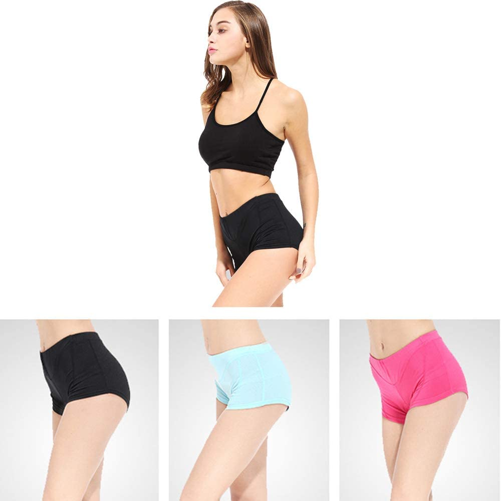 Women Quick Dry Cycling Underwear Gel 3D Padded Bicycle Shorts Bicycle MTB Underpants with Mesh Breathable Lightweight Large Black
